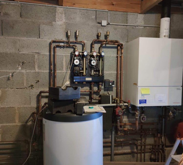 Installation d'une pompe à chaleur mixte NIBE en remplacement d'une chaudière gaz